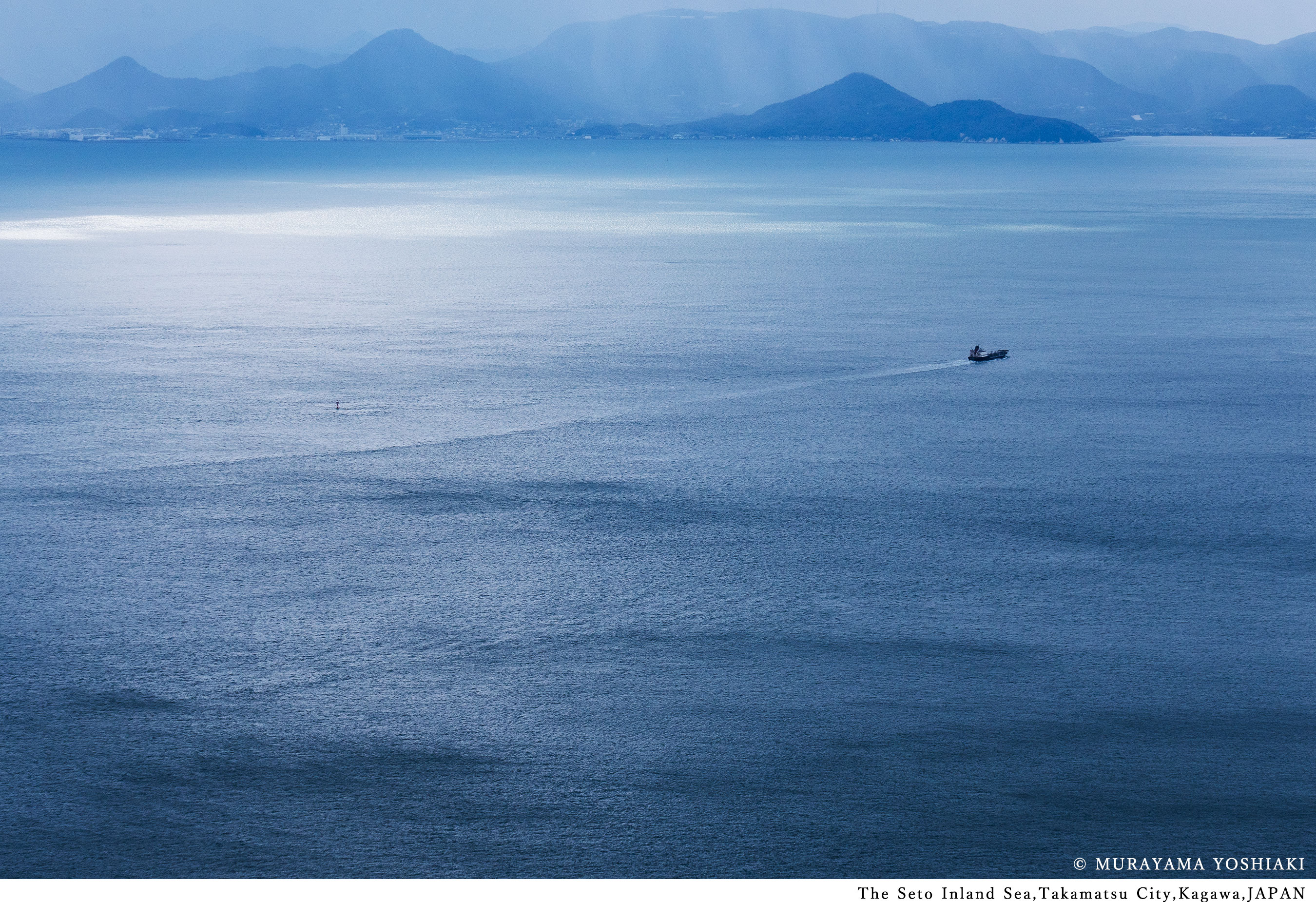 The Seto Inland Sea. Takamatsu City, Kagawa JAPAN.